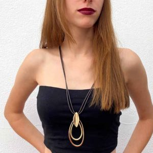 Collar Tropic Art De Eslabones Dorados