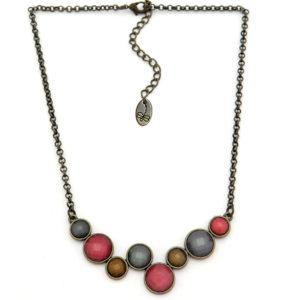 Collar Tropic Art corto piedras colores