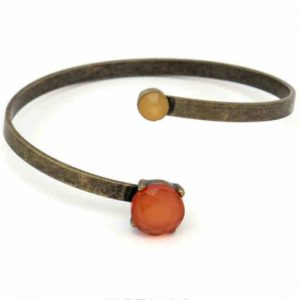 Pulsera Tropic art metal y piedra
