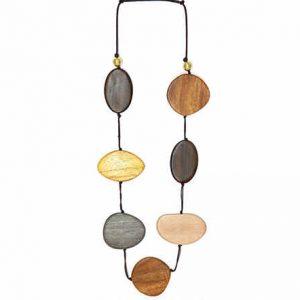 Collar Tropic art piezas de madera