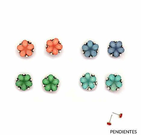 Pendientes Tropic art pequeños florecitas