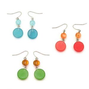 Pendientes Tropic art rodio color