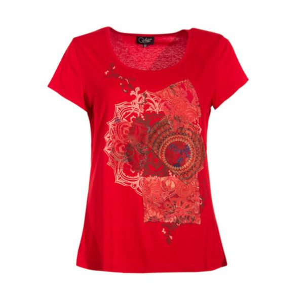 Camiseta algodón patchwork