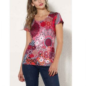 Camiseta Coline algodón y elastano