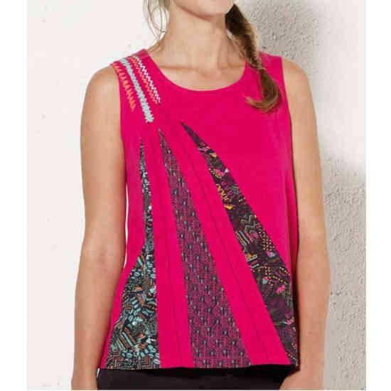 Camiseta Coline estampada rosa