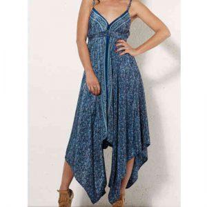 Vestido Coline estampado sari