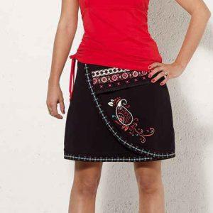 Falda Coline algodón bordada con estampado
