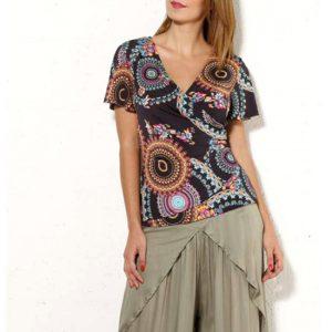 Camiseta Coline Mujer Cruzada Manga Corta