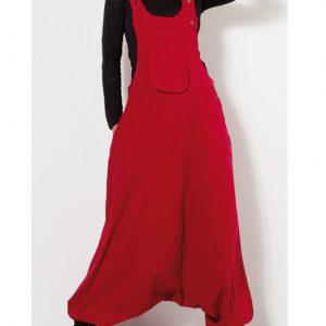 Coline peto algodón en color rojo bombacho