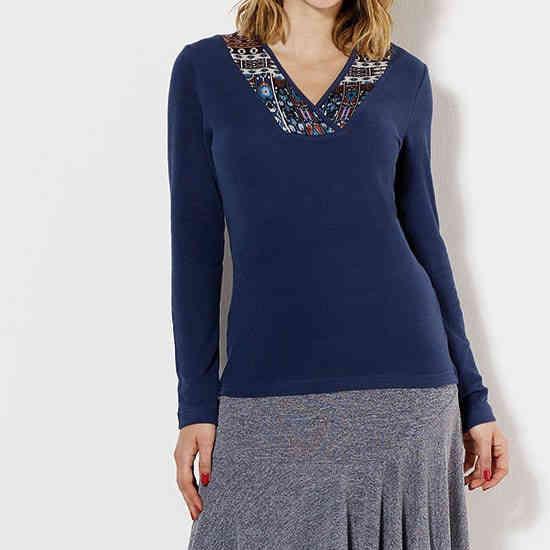 Camiseta Coline azul elastica