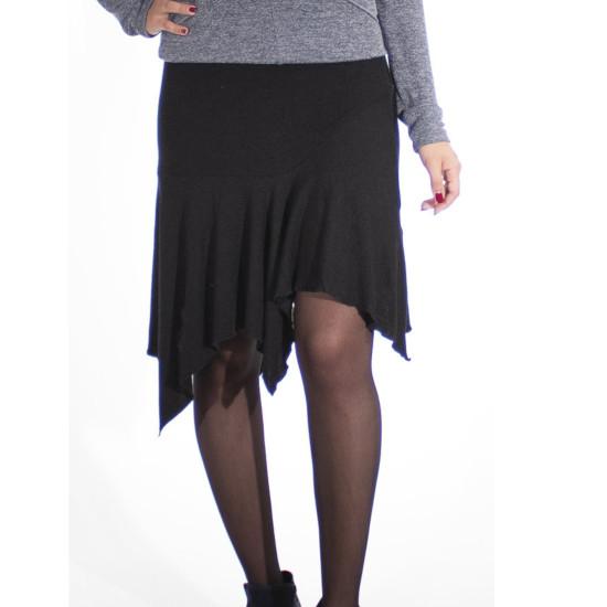 Falda Coline de Punto con Picos en Color Liso
