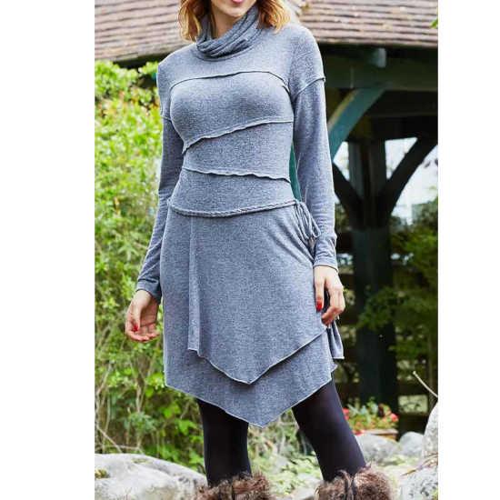 Vestido Coline punto gris