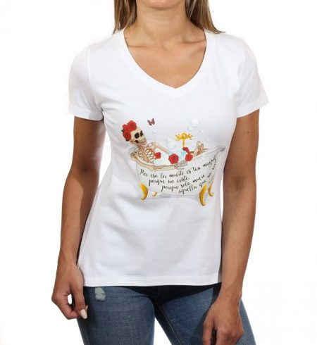 Camiseta Animosa esqueleto en la bañera