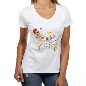 Camiseta animosa esqueleto y bañera