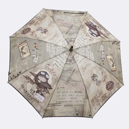 Paraguas Anekke bastón estampado aviadora