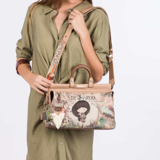 Bolso Anekke Jungle Asa Unica Estampado