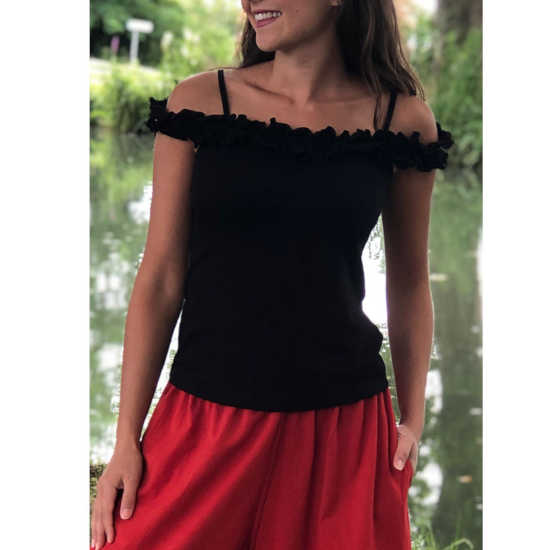 Camiseta Coline Tirante Fino Algodón