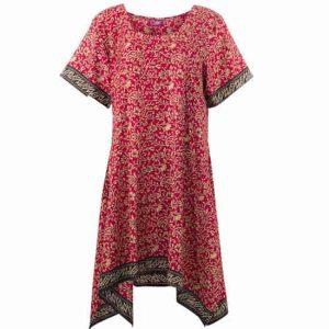 Vestido Coline Sari Mangas Cortas Estampado