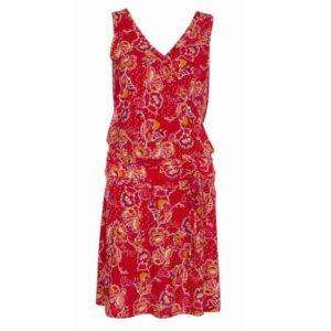 vestido coline corte cadera rojo