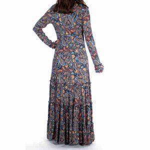 Vestido Coline Largo Estampado Persa
