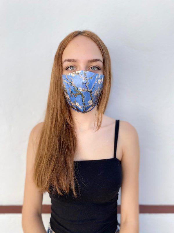 Mascarilla Homologada Los Almendros Azul