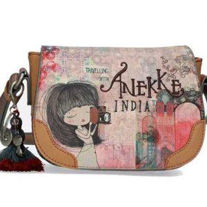 Bandolera Anekke India Pequeña Con Solapa