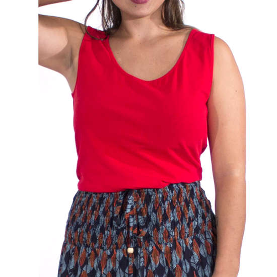 Camiseta Coline Algodon Tirante Ancho Lisa