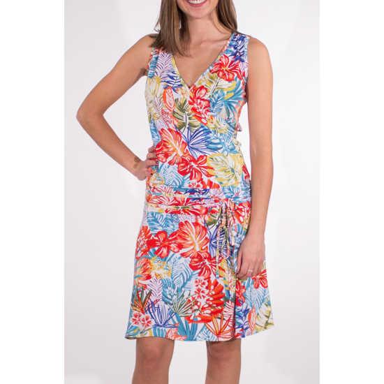 Vestido Coline Estampado Multicolor Corte Cadera