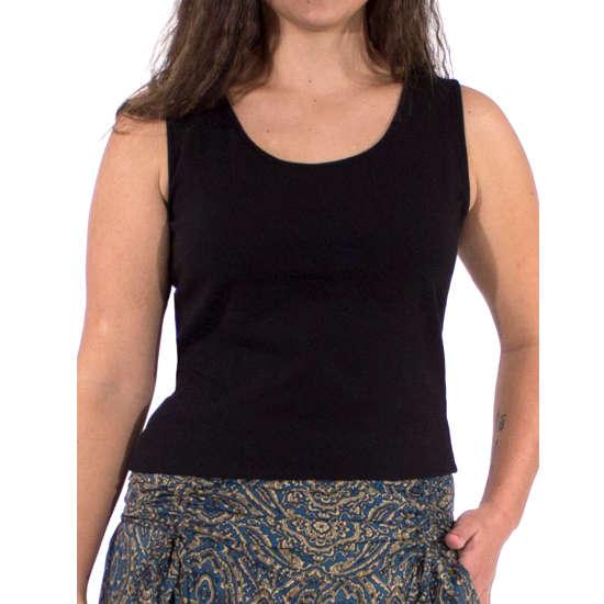 Camiseta Coline Algodón Costuras Lisa Sin Mangas
