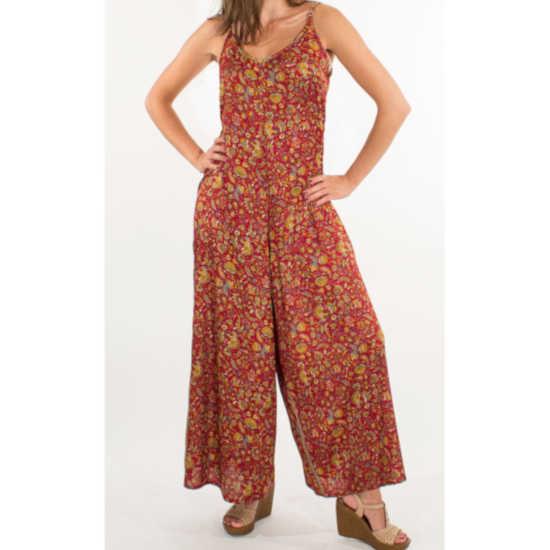 Mono Pantalón Sari Tirantes Estampado