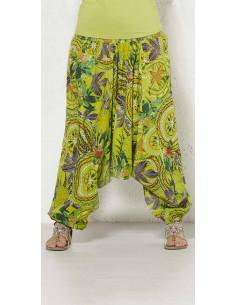 Pantalón Coline Verde Estampado 3 Posturas