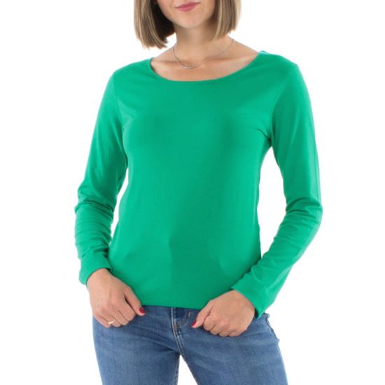 Camiseta Coline Algodón Y Elastano Lisa Manga Larga