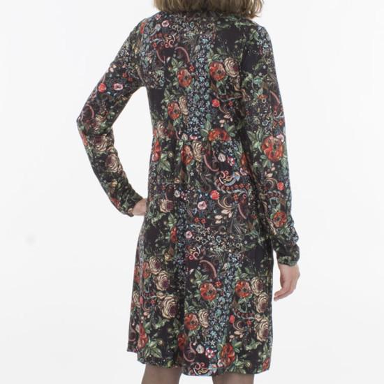 Vestido Coline Elástico Estampado Flores Corte Debajo Del Pecho