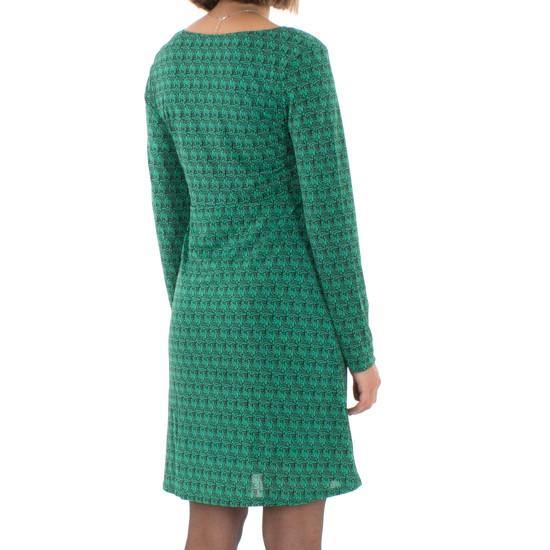 Vestido Coline Estampado Verde Malla Y Elastano